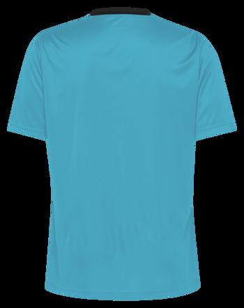HMLREFEREE JERSEY S/S, SCUBA BLUE, packshot