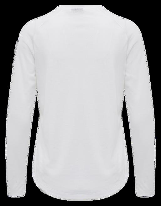 hmlVANJA T-SHIRT L/S, WHITE, packshot