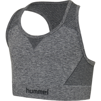 hmlAVA SEAMLESS SPORTS TOP, MEDIUM MELANGE, packshot