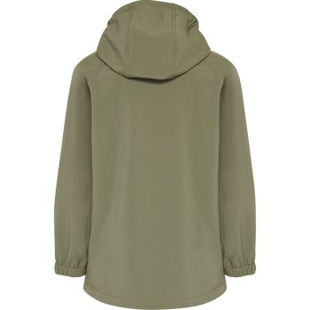 hmlFREDERIK SOFTSHELL JACKET, DEEP LICHEN GREEN, packshot