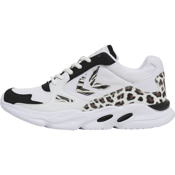 HMLYORK ANIMAL PRINT SNEAKER, BLACK/WHITE, packshot