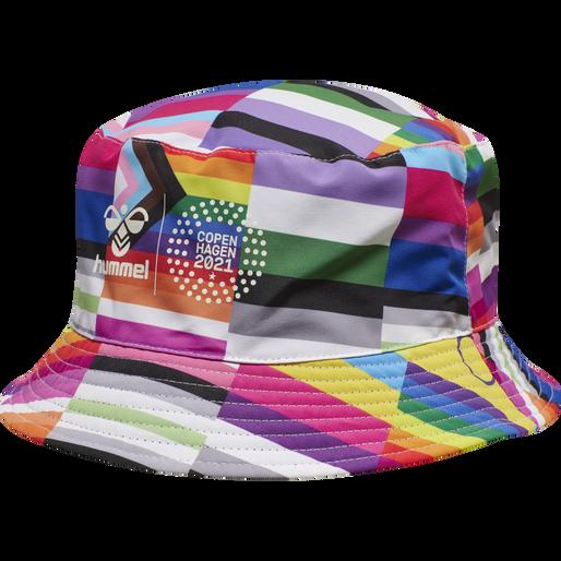 hmlFLAG REVERSIBLE BUCKET HAT, BLACK/MULTI COLOUR, packshot