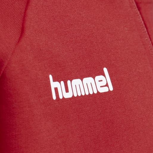 HUMMEL GO KIDS COTTON ZIP HOODIE, TRUE RED, packshot