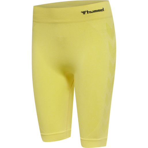 hmlCI SEAMLESS CYCLING SHORTS, CELANDINE MELANGE, packshot
