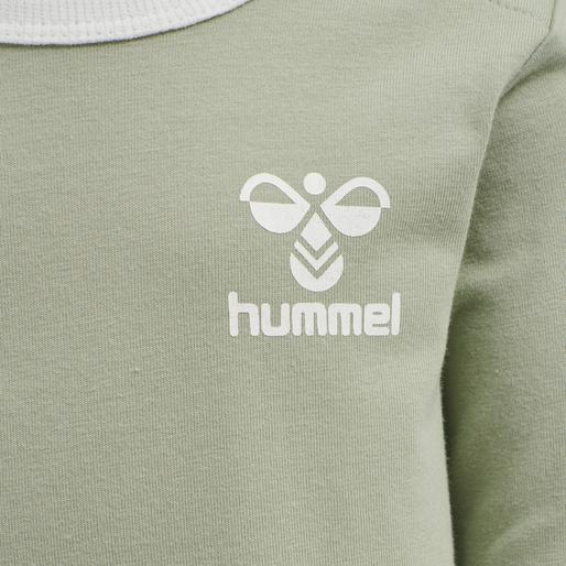 hmlMAUI T-SHIRT L/S, DESERT SAGE, packshot