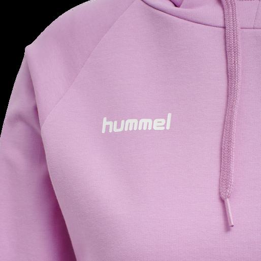 HUMMEL GO COTTON HOODIE WOMAN, ORCHID, packshot