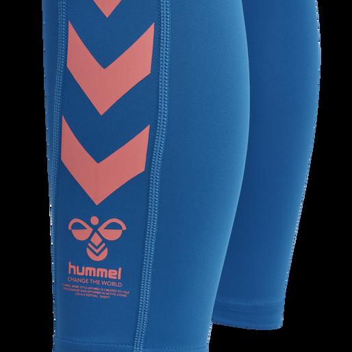 hmlMACI HIGH WAIST 7/8 TIGHTS, MYKONOS BLUE, packshot