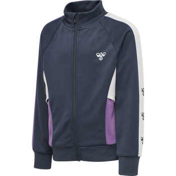 hmlKISA ZIP JACKET, OMBRE BLUE/CHINESE VIOLET, packshot