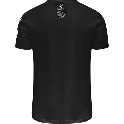 hmlLOVE T-SHIRT, BLACK/MULTI COLOUR, packshot
