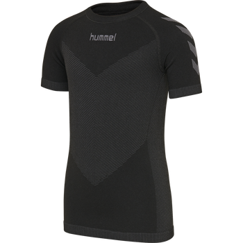 HUMMEL FIRST SEAMLESS KIDS JERSEY S/S , BLACK, packshot