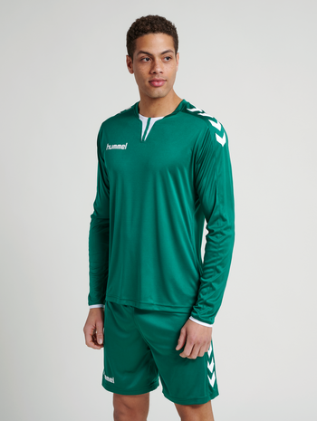 CORE LS POLY JERSEY, EVERGREEN PR, model