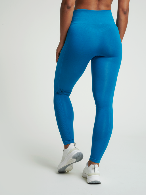 hmlTIF SEAMLESS HIGH WAIST TIGHTS, MYKONOS BLUE, model