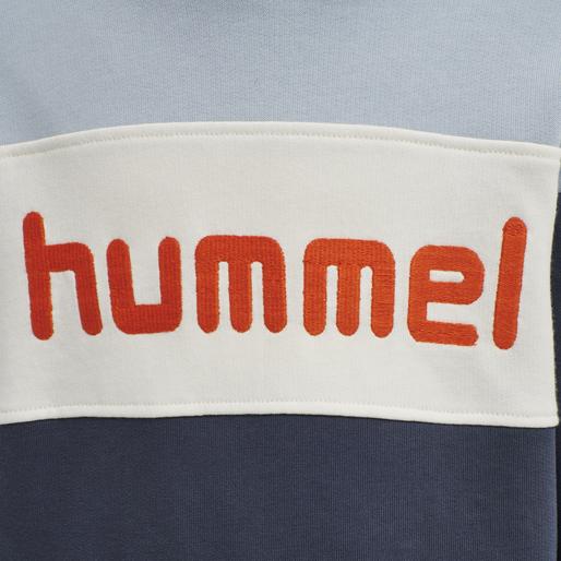 hmlMORTEN HOODIE , BLUE FOG, packshot