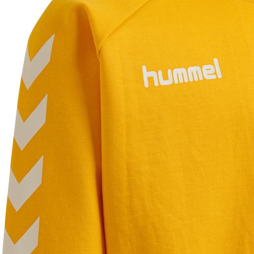 HUMMEL GO KIDS COTTON SWEATSHIRT, SPORTS YELLOW, packshot