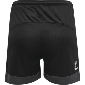 hmlLEAD WOMENS POLY SHORTS, BLACK, packshot