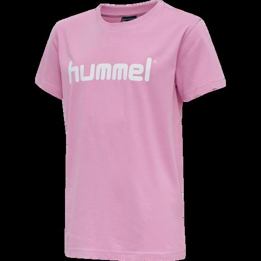 HUMMEL GO KIDS COTTON LOGO T-SHIRT S/S, COTTON CANDY, packshot