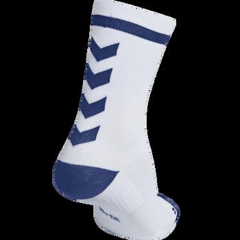 ELITE INDOOR SOCK LOW, WHITE/TRUE BLUE, packshot