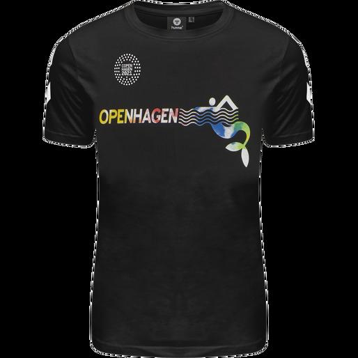 hmlOPENHAGEN T-SHIRT, BLACK/MULTI COLOUR, packshot