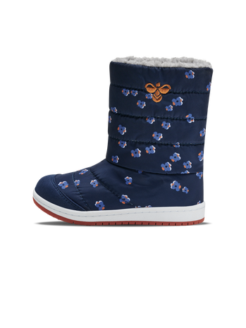 PUFFER BOOT PRINT JR, BLACK IRIS, packshot
