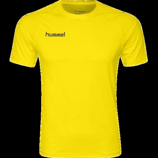 HUMMEL FIRST PERFORMANCE JERSEY S/S, BLAZING YELLOW, packshot