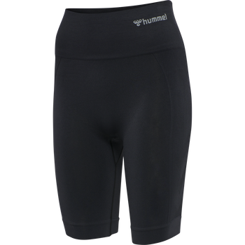 hmlTIF SEAMLESS CYLING SHORTS, BLACK, packshot