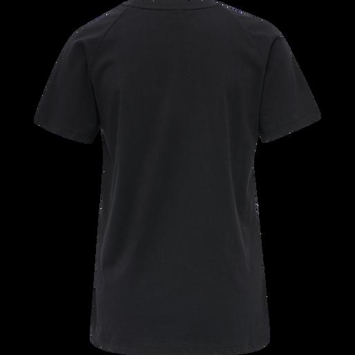 hmlZENIA T-SHIRT S/S, BLACK/HUMUS, packshot