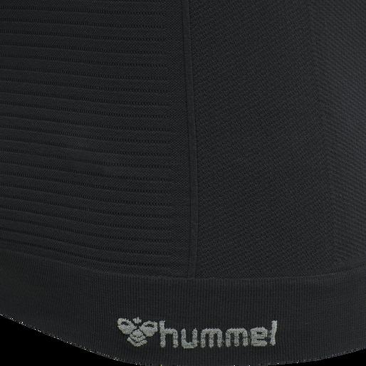 hmlSTROKE SEAMLESS T-SHIRT, BLACK, packshot