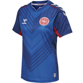 DBU GK WOMAN JERSEY SS, TRUE BLUE/TRUE RED, packshot