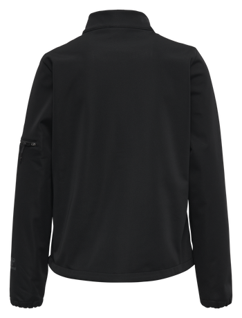 hmlNORTH SOFTSHELL JACKET WOMAN, BLACK/ASPHALT, packshot
