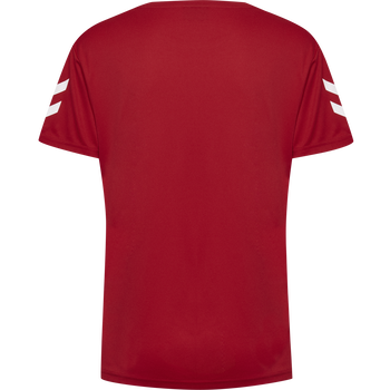 CORE POLY TEE WOMAN S/S, TRUE RED, packshot