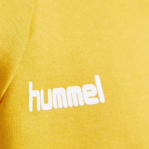 HUMMEL GO KIDS COTTON HOODIE, SPORTS YELLOW, packshot