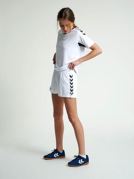 CORE WOMENS SHORTS, WHITE PR, model