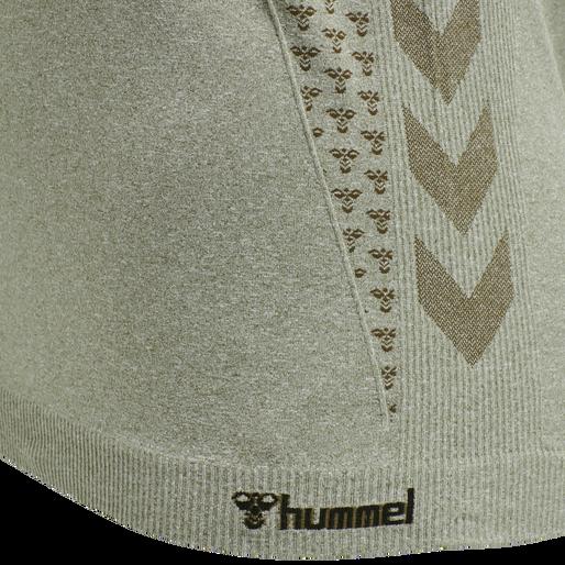 hmlCI SEAMLESS T-SHIRT, VETIVER MELANGE, packshot