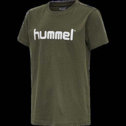 HUMMEL GO KIDS COTTON LOGO T-SHIRT S/S, GRAPE LEAF, packshot