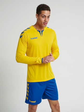 CORE LS POLY JERSEY, SPORTS YELLOW/TRUE BLUE, model