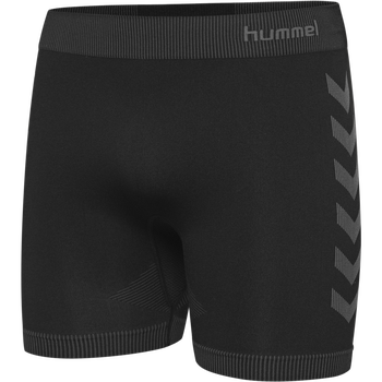 HUMMEL FIRST SEAMLESS KIDS 3/4 TIGHTS, BLACK, packshot