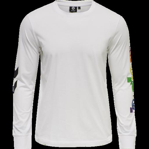 hmlLOVE T-SHIRT L/S, WHITE/MULTICOLOR, packshot