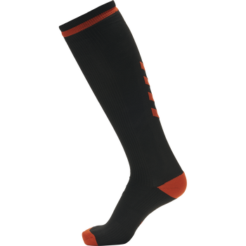ELITE INDOOR SOCK HIGH, BLACK/RED, packshot