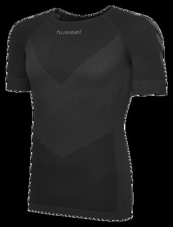 HUMMEL FIRST SEAMLESS JERSEY S/S , BLACK, packshot