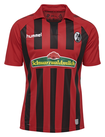 SCF HOME KIDS JERSEY SS 19/20, TRUE RED/BLACK, packshot