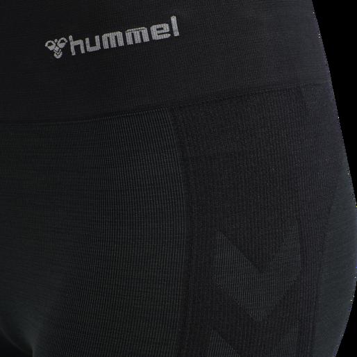 hmlCLEA SEAMLESS CYCLING SHORTS, BLACK MELANGE, packshot