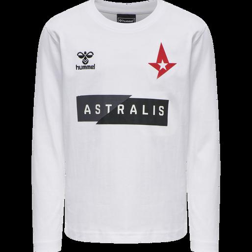 ASTRALIS T-SHIRT L/S KIDS, WHITE, packshot