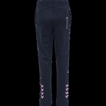hmlACTION COTTON PANTS WOMAN, BLACK IRIS/ORCHID, packshot