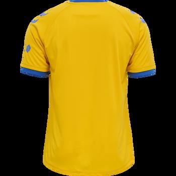 BRØNDBY 21/22 HOME UEFA JERSEY S/S, SPORTS YELLOW, packshot