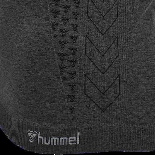 hmlCI SEAMLESS T-SHIRT, BLACK MELANGE, packshot