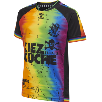 FC ST. PAULI RAINBOW 19/20 JERSEY S/S KIDS, MULTI COLOUR, packshot