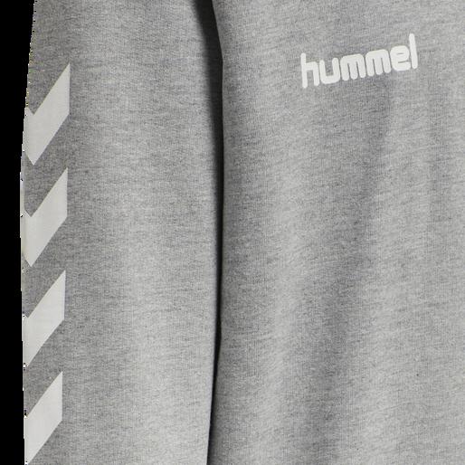 HUMMEL GO KIDS COTTON HOODIE, GREY MELANGE, packshot