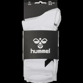 hmlCHEVRON 6-PACK SOCKS, WHITE, packshot