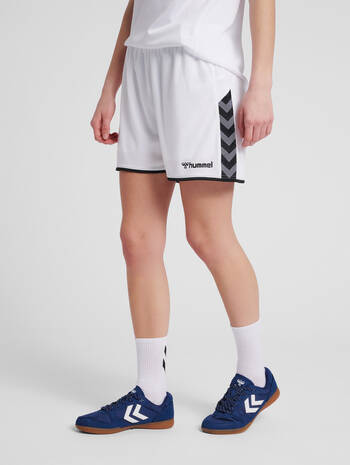 hmlAUTHENTIC POLY SHORTS WOMAN, WHITE, model