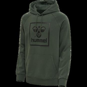 hmlISAM HOODIE, DARKEST SPRUCE, packshot